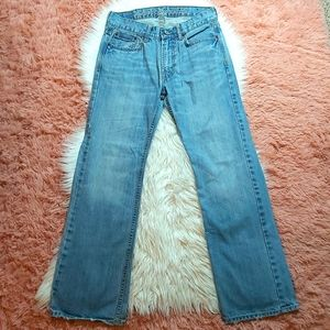 American Eagle Stonewash Low Rise Boot Cut Jeans